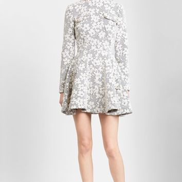 Women's J.W.ANDERSON Mock Neck Floral Jersey Skater Dress