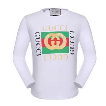 GUCCI HOT SALE Round neck letters printed long sleeve sweater White Letter pattern
