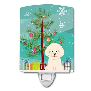 Merry Christmas Tree Bichon Frise Ceramic Night Light BB4200CNL