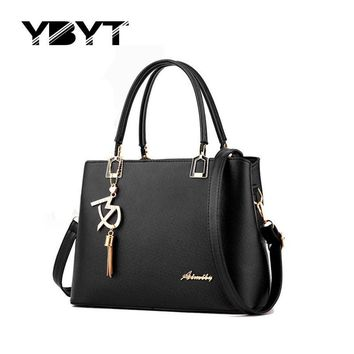 YBYT brand 2017 new high quality simple women office handbags hotsale ladies briefcase bags shoulder messenger crossbody bags