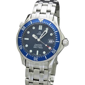 Omega Seamaster quartz mens Watch 2561.80 (Certified Pre-owned)