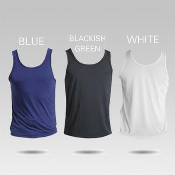 Holelong Man's MODAL Solid color 3-pack underwear clothing close-fitting short Men sexy men tank top singlet vesHCB050