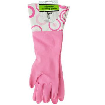 Bathroom Cleaning Gloves with Nylon Cuffs ( Case of 20 )