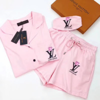 Louis Vuitton Women Shorts Robe Sleepwear Loungewear Set Two-Piece