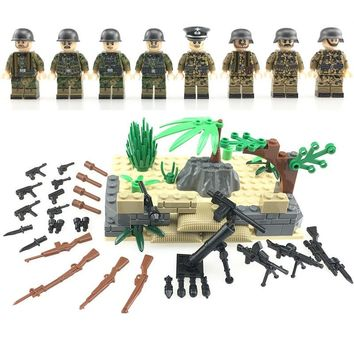 NEW Weltkrieg 2 German Assault Special  Force Soldiers weapons figure building blocks toys for children LegoINGlys Military toys