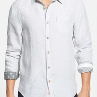 Men's 1901 'Shelton' Trim Fit Linen Woven Shirt