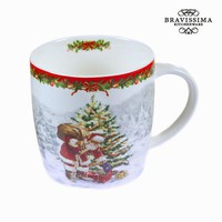 Porcelain mug christmas white by Bravissima Kitchen