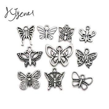DCCKFV3 Mixed Tibetan Silver Plated Butterfly Dragonfly Charm Pendant for Bracelet Necklace Jewelry Accessories Making Handmade DIY