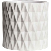 Maceta con relieve - Blanco - HOME | H&M ES