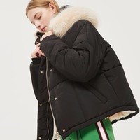 Faux Fur Lined Puffer Jacket | Topshop