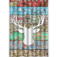 "66"" x 72"" Deer Head Shower Curtain"