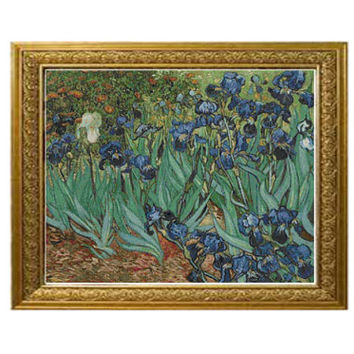 Irises Vincent van Gogh Cross Stitch Pattern