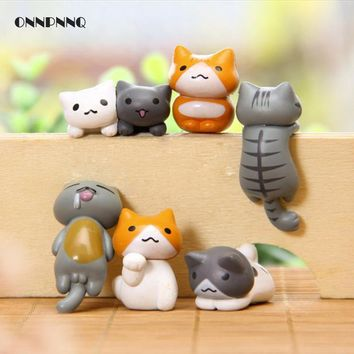 6pcs Japan Kawaii Cat Miniature Terrarium Figurines Ornaments For Home Decoration