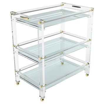 Anne Bar Cart, Acrylic / Lucite, Bar Carts