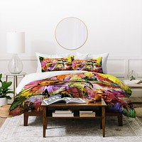 Ginette Fine Art Abstract Echinacea Flowers Duvet Cover
