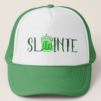 Slainte St. Patrick's Day Irish Beer Trucker Hat
