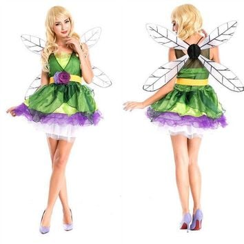 PEAPIX3 Elf Cosplay Anime Cosplay Apparel Holloween Costume with Wing [9220298436]