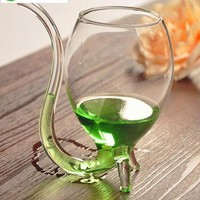 300ml Transparent Wine Glass With Straw Novelty  Vampire Cup Juice Cup Cocktail