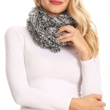 Sakkas Coline Soft Heather Chunky Cable knit Hat and Scarf Set Warm Cozy Winter