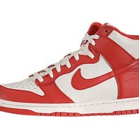 Nike Dunk High, Sail/Action Red
