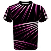 Bending Abstract Futuristic Print Men's Sport Mesh Tee