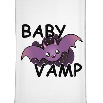 Baby Vamp Flour Sack Dish Towel by TooLoud