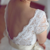 Claire Pettibone Vintage Inspired Tulle Lace Wedding by wonderxue