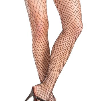 Stay Up Lace Top Fishnet Thigh Highs