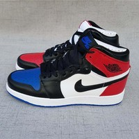 "Air Jordan 1 Retro ""OG Top 3"" Black/blue/red"