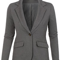 LE3NO Womens Fitted Boyfriend  Suit Blazer with Pockets (CLEARANCE)