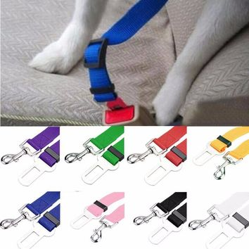 Adjustable Pet Dog Safety Seat Belt Nylon Pets Puppy Seat Lead Leash Dog Harness Vehicle Seatbelt Pet Supplies Travel Clip .