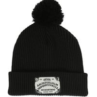 Ouija Board Fold-Over Pom Beanie