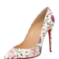 Christian Louboutin Pigalle Follies Floral-Print Red Sole Pump
