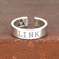 Link Ring - Triforce - Legend of Zelda - Aluminum Ring