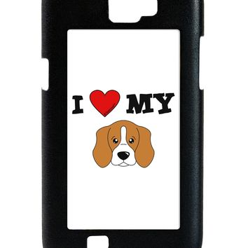I Heart My - Cute Beagle Dog Galaxy Note 2 Case  by TooLoud