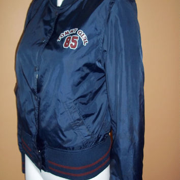 Vintage Tommy Girl/Tommy Hilfiger Windbreaker/ Warm up Jacket 1990s/1980s 90s club kid,Nylon,Vintage sweatshirt
