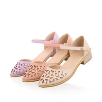 Summer Design Stylish Korean Hollow Out Casual Flat Sandals [6031698817]