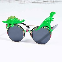 Spangled Disco Dino Sunglasses in Neon - Urban Outfitters