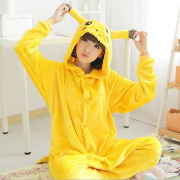 Free ship Christmas Japan Adult Pokemon Pikachu Kigurumis Cosplay Footed One Piece Pajamas Onesuit Costume Fleece Clothing XL