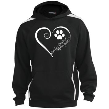 Curly-Coated Retriever, Always in my Heart Colorblock Sweatshirt