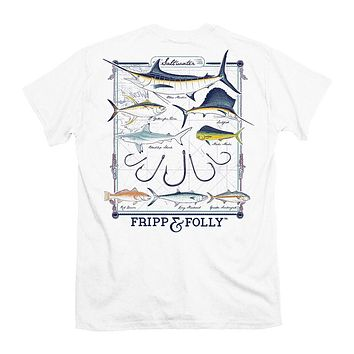 Saltwater Collection Tee in White by Fripp & Folly