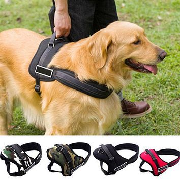 High Quality Pet Dog Nylon Harness Soft Hot Sale Large Dog Suspenders Pet Harness Retractable Dog Leash for Small and Large