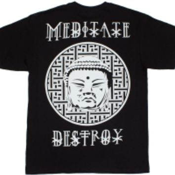 Meditate & Destroy T-shirt Blk: FR3N3MY | There is no religion higher than the truth