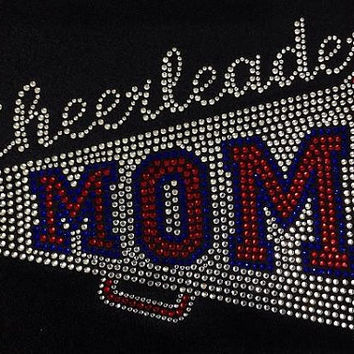Rhinestone Cheer Mom T-Shirt - Bling Shirt