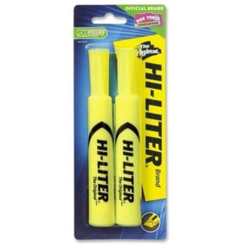 AVERY FLUORESCENT YELLOW HIGHLIGHTER -2 PACK