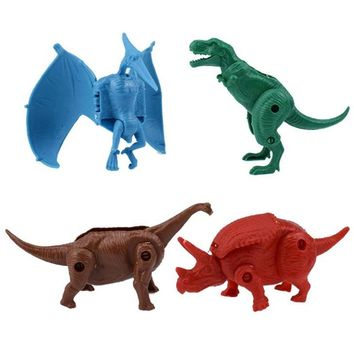 4 Pcs/lot New Dinosaur Egg Action Figure Toy Dinosaurs Eggs Figures Deformed Monster Kids Toys Anime Brinquedos Animal Dragon