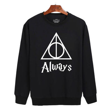 Harry Potter and the Deathly Hallows Always Sweater sweatshirt unisex adults size S-2XL