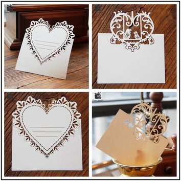 Blank Thank You 3D Laser Cut Wedding Invitation RSVP Cards Small Love Message Gift Card