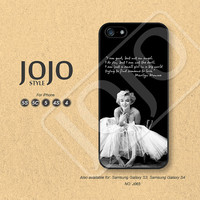 iPhone 5 Case, iPhone 5c Case, iPhone 4 Case, iPhone 5s Case, iPhone 4s Case, Marilyn Monroe, Phone Cases, Phone Covers - J065