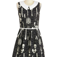 ModCloth Quirky Mid-length Sleeveless A-line Rad to the Bone Dress